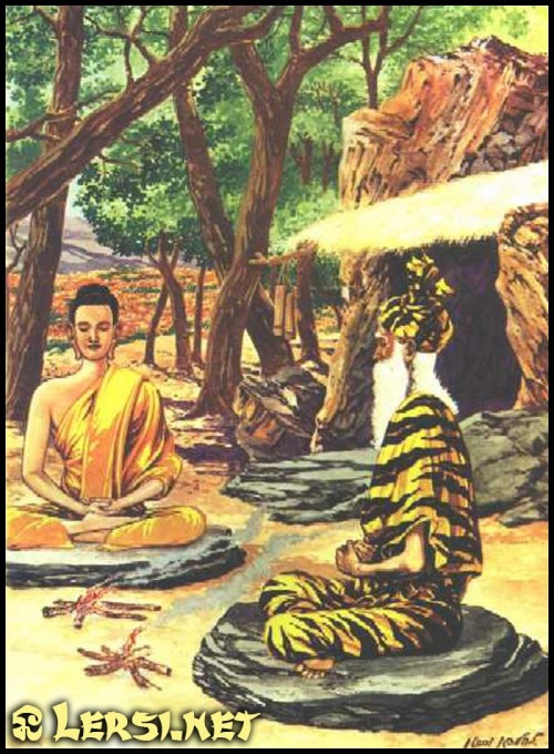 The Buddha's first two schools of learning were the Ashrams of two Lersi Hermits